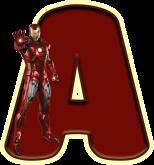 Alfabeto - Homem de Ferro 1 - PNG