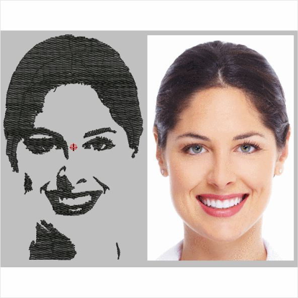 Converter foto para bordado vídeo aula como criar matriz