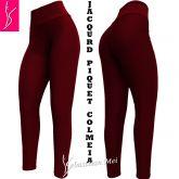 Calça legging plus(56/58-60/62) vermelho escuro em tecido jacquard piquet