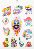 Kit 60 Tatuagens Caveiras e Escorpiões