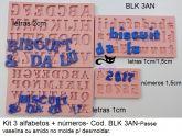 kit 3 alfabetos e números- BLK 3AN