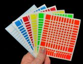 Adesivo 11X11 p/ o cubo Mofang Jiaoshi Meilong 90mm Cores Half Bright com adesivos extras