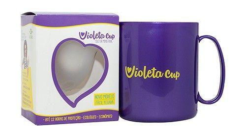 Violeta Cup - Tamanho A - Incolor - Kit com Caneca