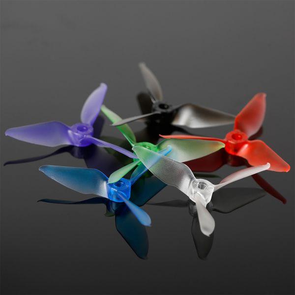 Jogo de Hélices Racekraft 3076 Tri-Blades - Clear Red - M5 (02 CW & 02 CCW