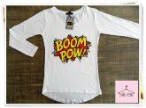 Tee Boom Pow - Manga Longa