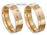 Alianças folheadas a ouro em Uberlândia, modelo 3201/3303 - Temos pronta entrega.