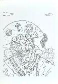Zumbis para colorir, arte original, pág 25