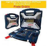 Jogo Estojo Kit Ferramentas 103 Peças Novo X-line Bosch + FRETE GRÁTIS