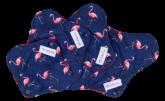 Kit Absorventes Reutilizáveis Violeta Cup - Flamingos + bolsinha
