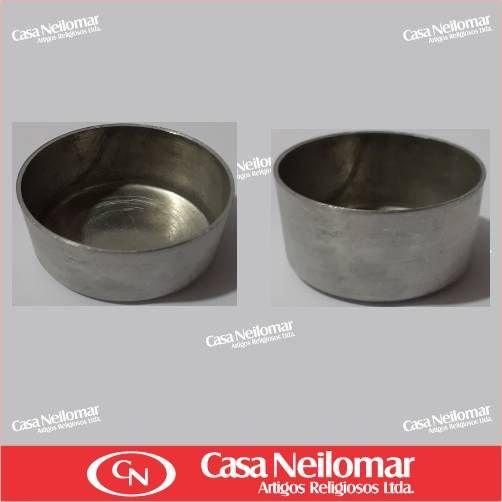 004008 - Castiçal de Alumínio para vela rechaud