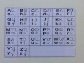 Alfabeto impresso