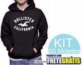 Kit 03 MOLETON HOLLISTER MASCULINO - HOLLISTER