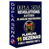 Planilha DUPLA SENA, aposte com 11 dezenas em 39 jogos 5 ou 6 pontos 100%.