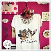 Tee Dogs - Best Friends - Yorkshire e   Chihuahua
