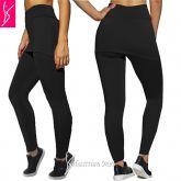 calça legging com saia fitness(48/50-52/54), legging preta plus size