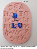 K. Alfabeto com 1,5cm a letra
