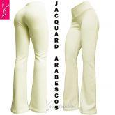Calça branca offwhite(P-M-G), flare ou reta, cintura alta, tom creme bem claro