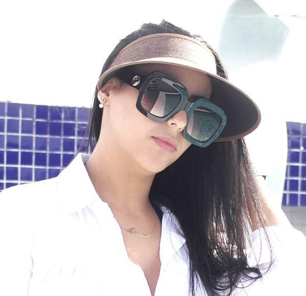 Óculos de sol feminino Gucci Máscara Quadrado - Daf Store 82339411fe