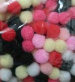 Pom Pom Bolinha Colorido 1,5cm (100 Unidades)