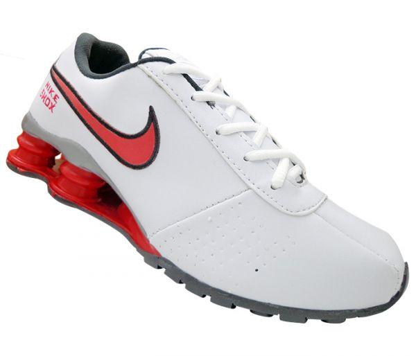 sneakers for cheap 3cb36 5032d Tênis Nike Shox Classic Branco e Vermelho MOD 13235  1ª Linha