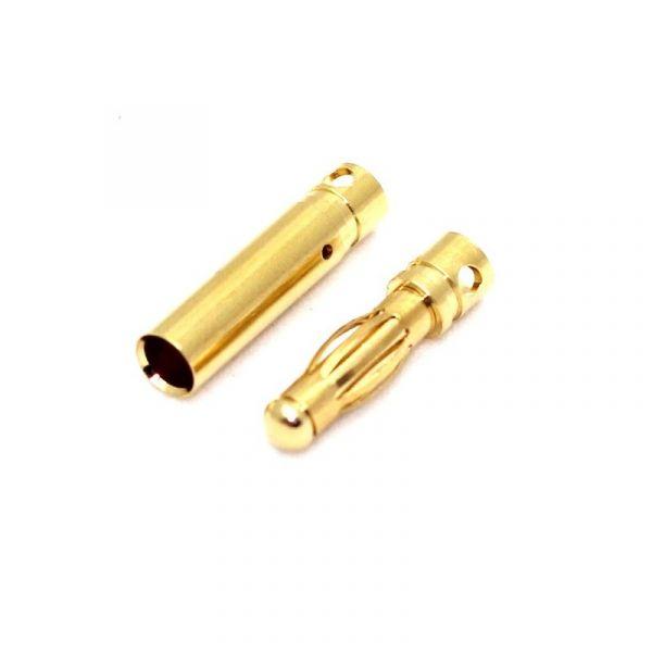 Conector Bullet Gold 4mm  O PAR (01 Macho & 01 Fêmea)