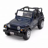 Miniatura Jeep Wrangler Rubicon Azul Metálico 1:27 Maisto