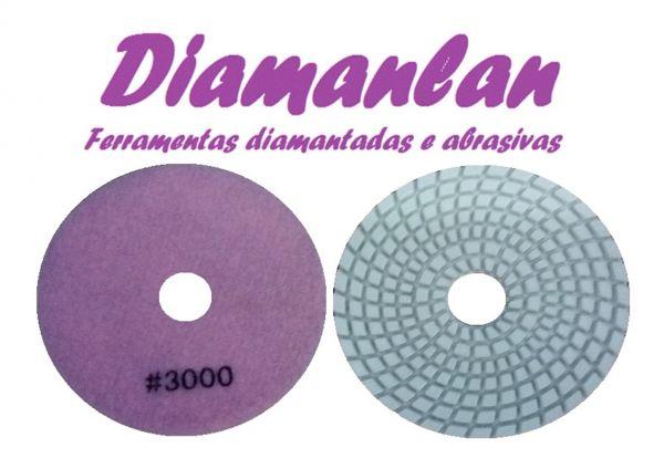Lixa Diamantada D'água 100mm Gr 3000