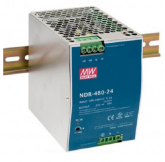 NDR-480-24 Fonte Chaveada Industrial 24V x 20A p/ Trilho DIN Mean Well