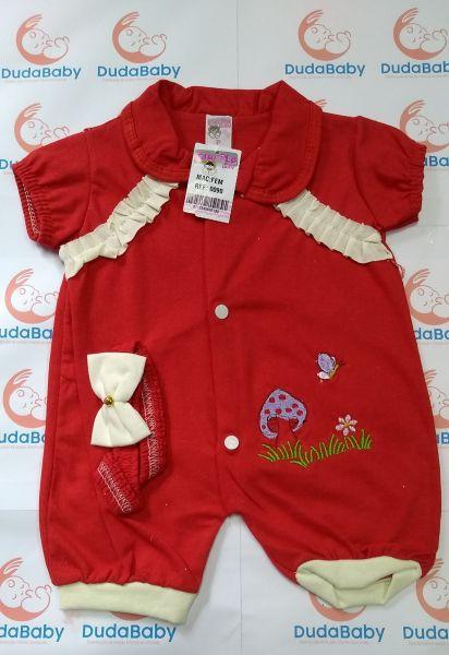 Macacão de bebê Curto Babado - Tam. P