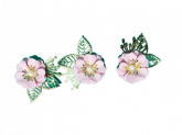 Kit Flores de Papel Rosa 3un