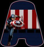 Alfabeto - Capitão America 2 - PNG