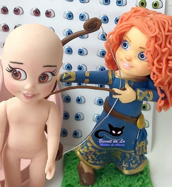 Kit Boneca Doll+ 30 pares de olhos resinados 410 P