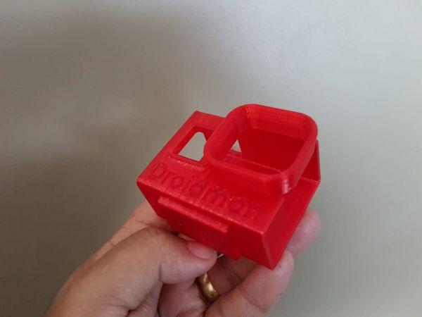 Case Protetor Gopro Hero 5 & 6 Sem Base / TPU (Material Flexível) / Vermelho