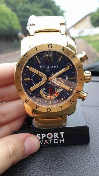 f9d2865215e Bvlgari Iron Man Dourado - Relógios da Ju