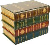 Baú Decorativo De Madeira  4 Livros 20cm