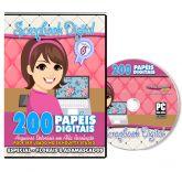 DVD 200 Papéis Digitais para Scrapbook Volume 6
