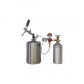 Growler Aço Inox 5l + Torneira + Kit Cilindro Aluminio 1kg