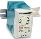 DRC-100A Fonte Chaveada DIN 12V x 4,5A c/ Carregador de Bateria 12V x 2,5A