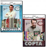 Encadernação Artesanal - Volume 1 e 2 - SKETCHBOOK e COPTA