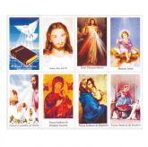 Santinhos de Oração em Papel 10X7cm coloridos