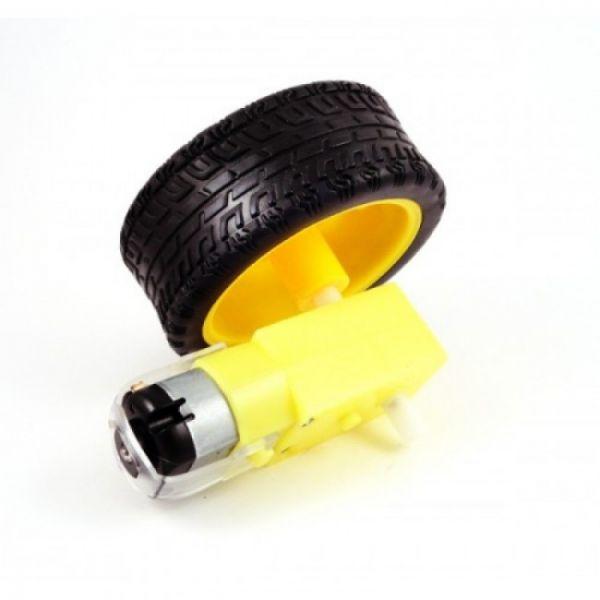 COD 1052 - Roda para Robô com motor e redutor (unidade)