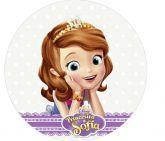 Papel Arroz Princesa Sophia Redondo 008 1un