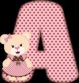 Alfabeto - Ursinha 3 - PNG
