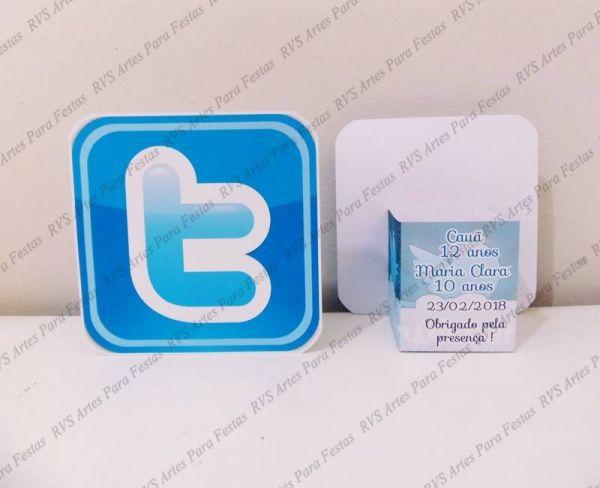 10 Centros de mesa - tema rede sociais - Twitter