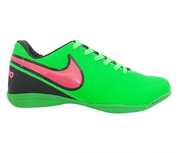 Chuteira Futsal Nike Tiempo Verde e Rosa - App Box 950096d84f82d