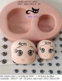 kit 2 rostos fofucha 0097 + olhos res. 380A -P/PP