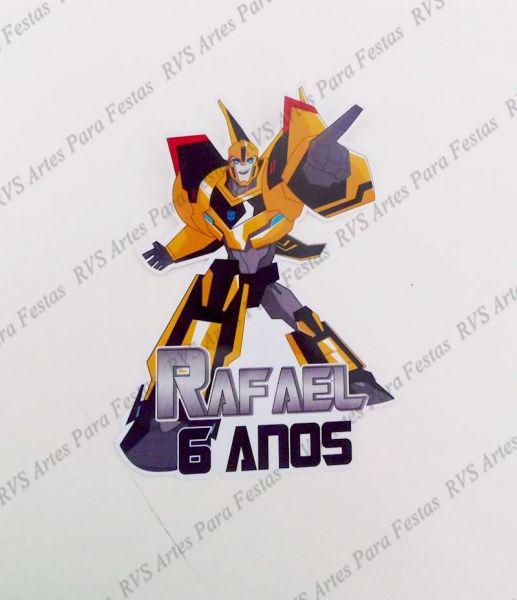 Apliques com 9,5 cm - Transformers - RVS Artes para Festas