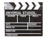Claquete - Universal Studios