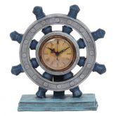 Relógio de Mesa Timão em Resina Azul 23 cm - MD-30 B