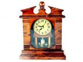 Relógio de Mesa Capelinha Em Plástico Quartz Vintage 20 cm